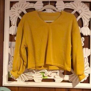 Sweaters - Crop mustard sweater size M